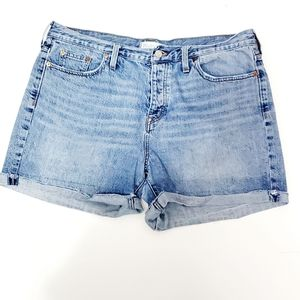 Madewell Button Fly Blue Jean Shorts Size 32